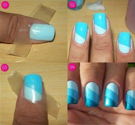 Простой дизайн ногтей гель лаками в домашних условиях пошагово