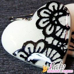 Серьги из полимерной глины «Кружевные сердца» своими руками, фото